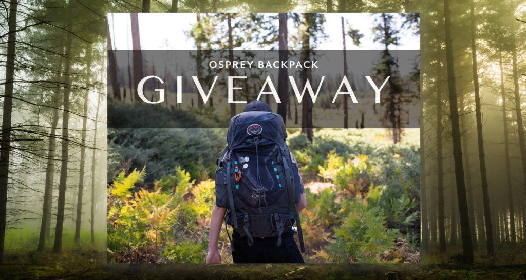 instagram giveaway osprey backpack