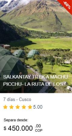 viajes a Salkantay Peru
